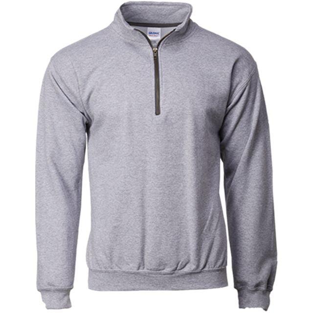 sport grey zipper crew